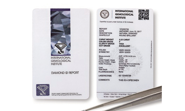 igi diamond id report