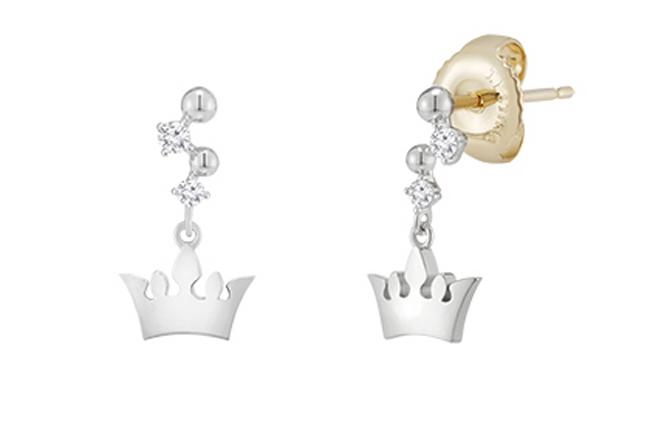 campana tiara earring(14k)